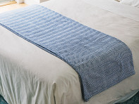 Brahms Mount: Cotton Blanket with Herringbone