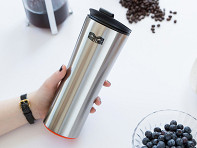 Mighty Mug: Tip-Proof Steel Travel Mug