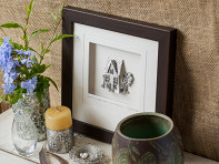 Cynthia Webb Designs: Wood Finish Framed Pewter Artwork