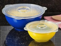 Cuchina Safe: Glass Vented Lids - Set of 2