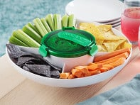 Guacamole Preservation Container and Serving Tray