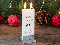 Handmade Holiday Flat Candle