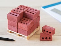 Mini Materials: 1:6 Scale Mini Red Bricks