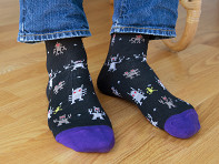 Soxfords: Pima Cotton Embroidered Socks