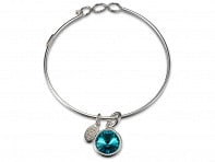 Float Jewelry: Single Charm Birthstone Bracelet