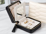 WOLF 1834: Quilted Jewelry Travel Case