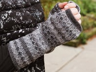 Shupaca: Knit Alpaca Wool Fingerless Mittens