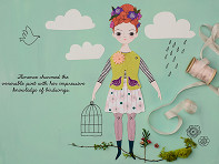 Of Unusual Kind: Handcrafted Paper Doll Kit
