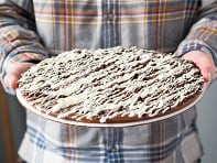 12 inch Solid Chocolate Pizza