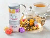 Blooming Tea Variety Tin & Teapot