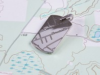 A.JAFFE: Sterling Silver Custom Map Pendant