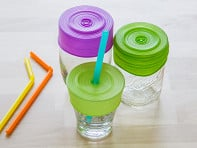 Silicone Lids & Straw - Set of 3