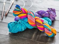 Darn Good Yarn: Upcycled Sari Silk Ribbon Yarn