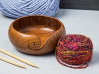 Handcrafted Wooden Yarn Bowl