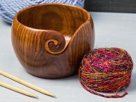 Darn Good Yarn: Handcrafted Jumbo Wooden Yarn Bowl