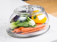 VeggiDome: Glass Tabletop Produce Saver