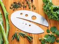 Raw Rutes: Kale Razor and Herb Stripping Tool