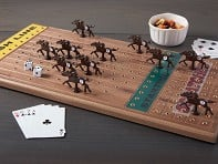 Wooden Tabletop Horseracing Game