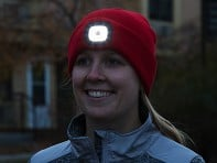Night Scout: Women's Rechargeable LED Beanie Hat