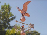 100% Copper Cottage Size Weathervane