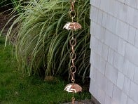 100% Copper Rain Chain
