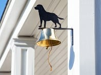 Brass Wall Bell with Silhouette