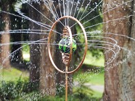 Hoppy's Garden Art: Spinning Copper Sprinkler
