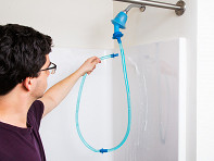 Rinseroo: Slip-On Shower Attachment Hose