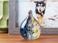 TZ Glass by Tari Zarka: Pet Memorial Glass Standing Paperweight