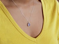 Prism Sea Glass: Sea Glass Pendant Necklace