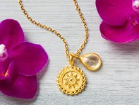 Satya Jewelry: Birthstone Mandala Necklace