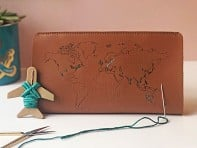 Stitch-Your-Travels Leather Wallet