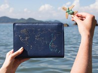 Chasing Threads: Stitch-Your-Travels Leather Notebook