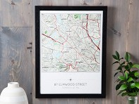 Butler and Hill: Custom Topographic Wall Map