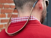 Clayton & Crume: Monogrammed Leather Sunglass Strap