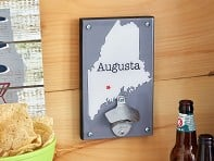 Custom Wall Mount Bottle Opener - State