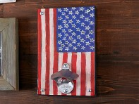 Wall Mount Bottle Opener - Country Flag