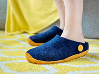 NAUSENI: Men's Wool Felt Slippers