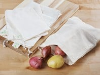 Buzzee Wraps: Reusable Cotton Produce Bags - 4-Pack