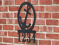 Back40-Designs: Round Silhouette Address Sign