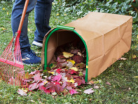 Leaf Gulp: Lawn Bag Holder with Stakes