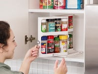 Cabinet Caddy: Instant Access Cabinet Organizer