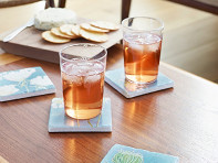 India & Purry by Jessica Hollander: Floral Marble Coaster Set