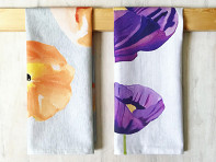 India & Purry by Jessica Hollander: Floral Cotton Tea Towel