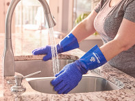 The Heavyweight Scrub Gloves: Latex-Free Heavy Duty Scrubbing Gloves