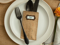 Cutlery Couture: Message Maker Silverware Pouch - Set of 8