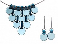 FormFire Glassworks: 7 Disc Necklace & Earrings Set