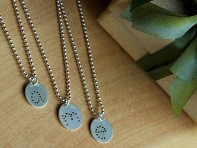 Lauren Wimmer: Silver Charm and Necklace Set