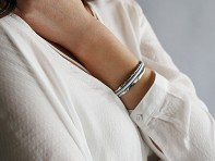 Sterling Silver Hair Tie Bracelet - Original Design