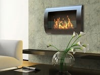 Anywhere Fireplace: Wall Mount Indoor Fireplace